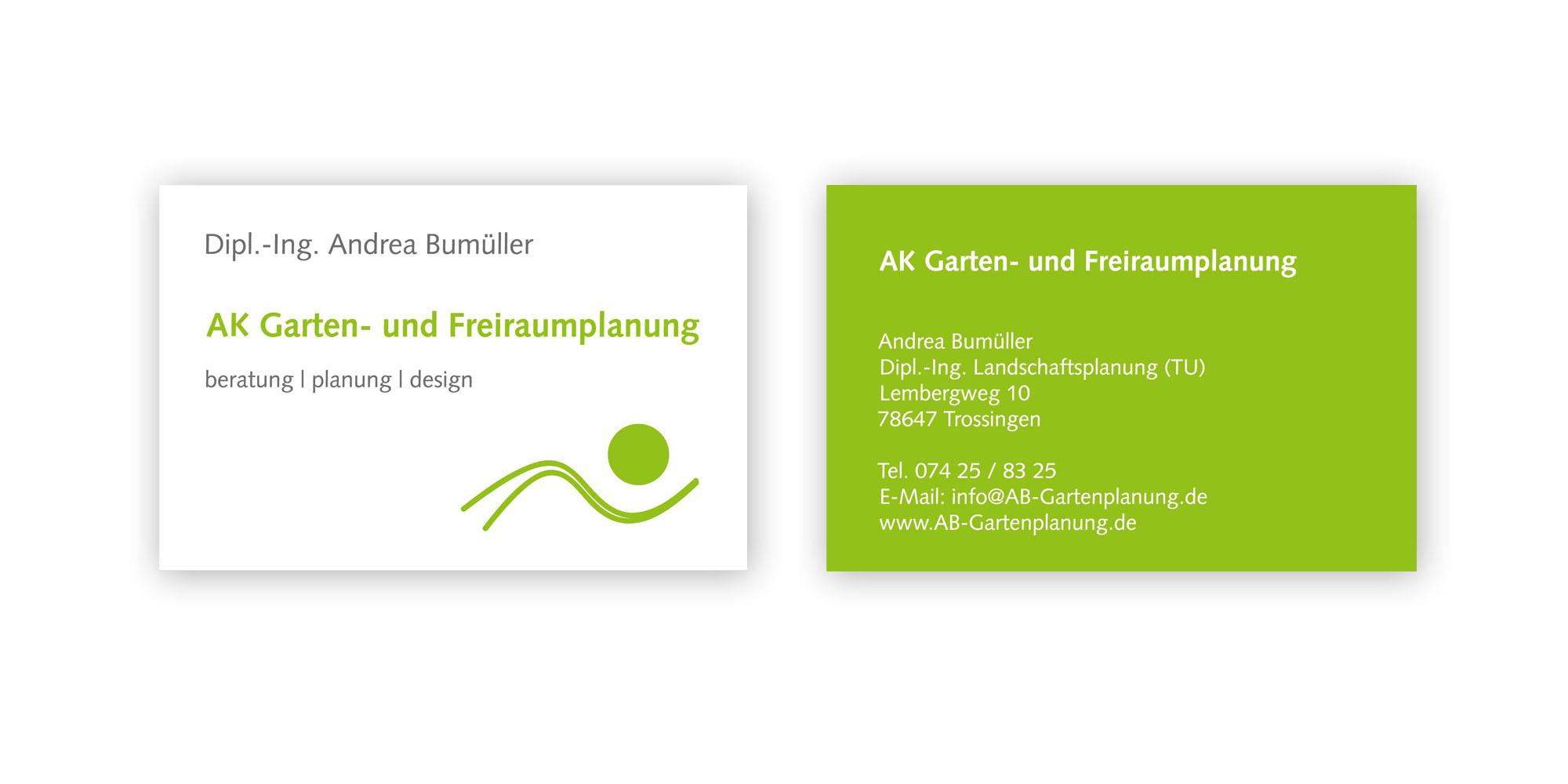Ab Garten Und Freiraumplanung Logo Visitenkarten Flyer